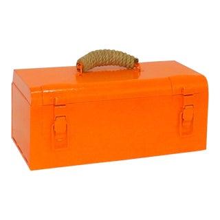 1960s Industrial Modern Metal and Rope Essential Oil Storage Box
