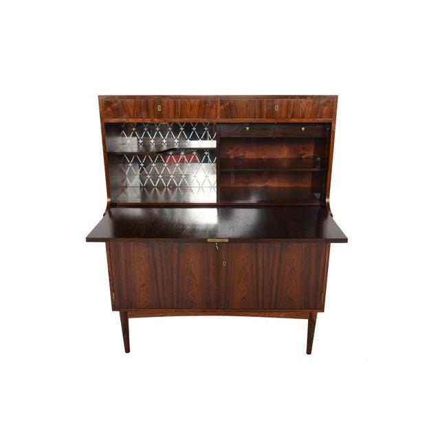 Danish Modern Rosewood Secretary Bar - Image 2 of 9