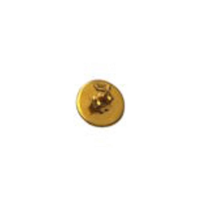 Italian 18k Gold Italian Basketweave Half Dome Pierced Earrings For Sale - Image 3 of 4
