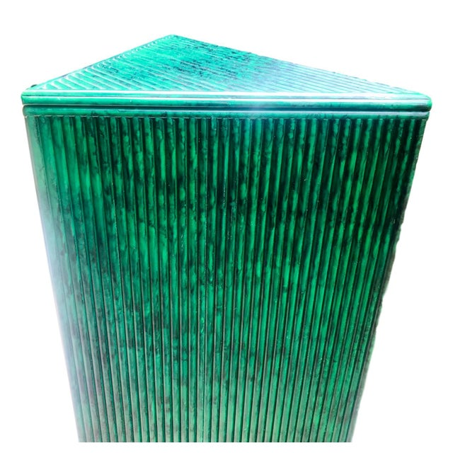From a Palm Beach estate, this custom-made pencil reed pedestal is magnificent! It is highly decorative with its beautiful...