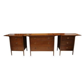 Mid Century Modern Drexel Counterpoint Credenza 3 Pc For Sale