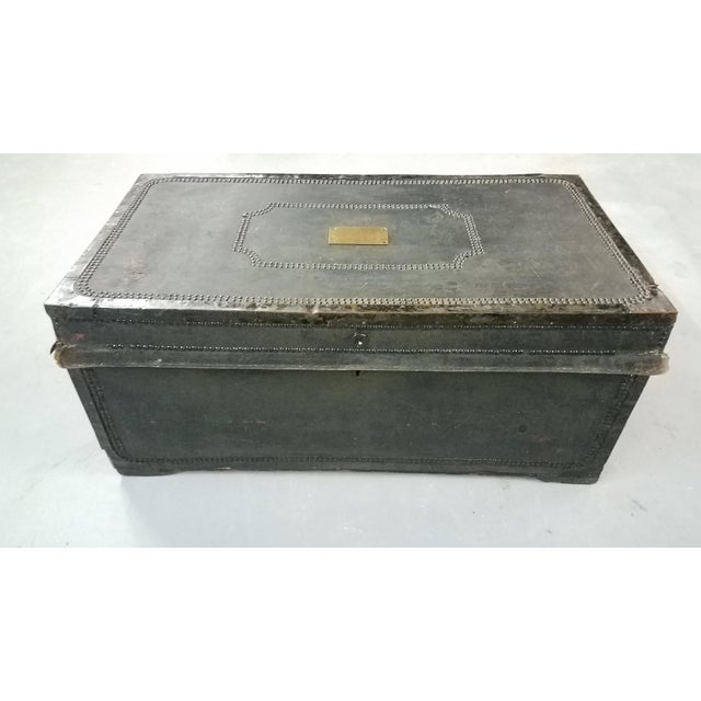 19th Century Nautical Royal Navy Officer's Campaign Chest For Sale - Image 11 of 13