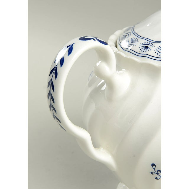 Cottage Johnson Brothers Blue Nordic Teapot & Lid For Sale - Image 3 of 7