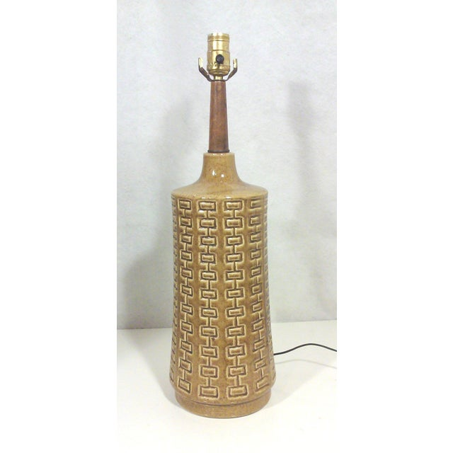 Ceramic & Walnut Table Lamp - Image 2 of 5