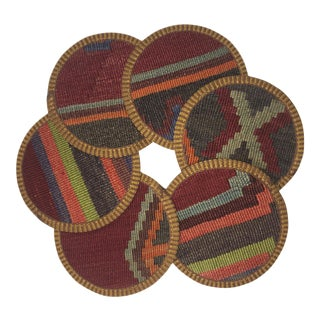 Rug & Relic Kilim Coasters Set of 6 | Belgin For Sale