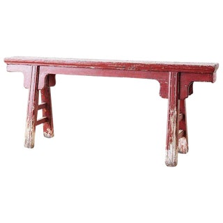 19th Century Chinese Provincial Lacquered Bench For Sale