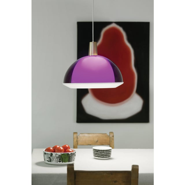 Yki Nummi Purple 'Kuplat' Pendant for Innolux Oy, Finland. Designed in 1959, Nummi's iconic light consists of two acrylic...