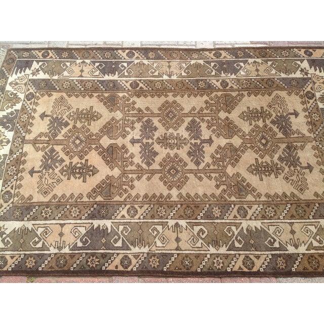 Islamic Vintage Oushak Rug - 3′11″ × 5′10″ For Sale - Image 3 of 5