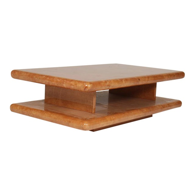 Parchment Coffee Table by Aldo Tura For Sale