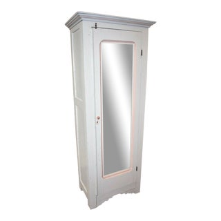Antique White Painted Wardrobe For Sale