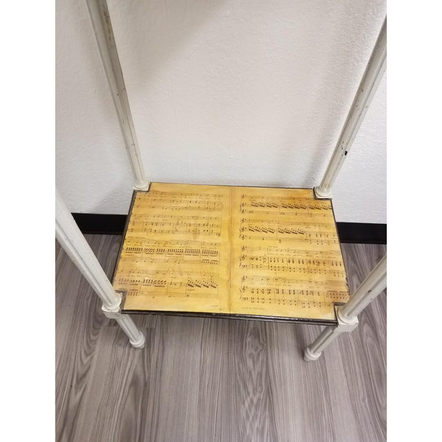 Traditional 19th Century Country Decoupaged Sheet Music Plant Stand For Sale - Image 3 of 8