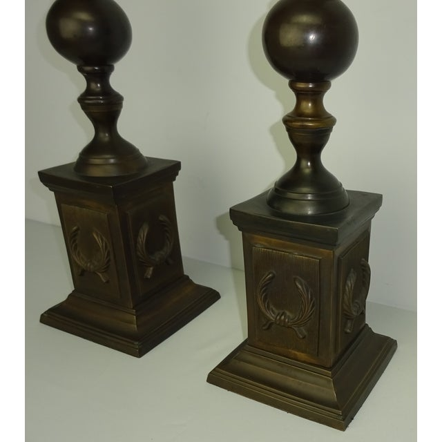 Oversized Bronze Neoclassical Finials - A Pair - Image 6 of 8