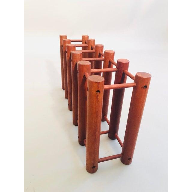 Richard Nissen Teak Wine Rack For Sale - Image 4 of 6