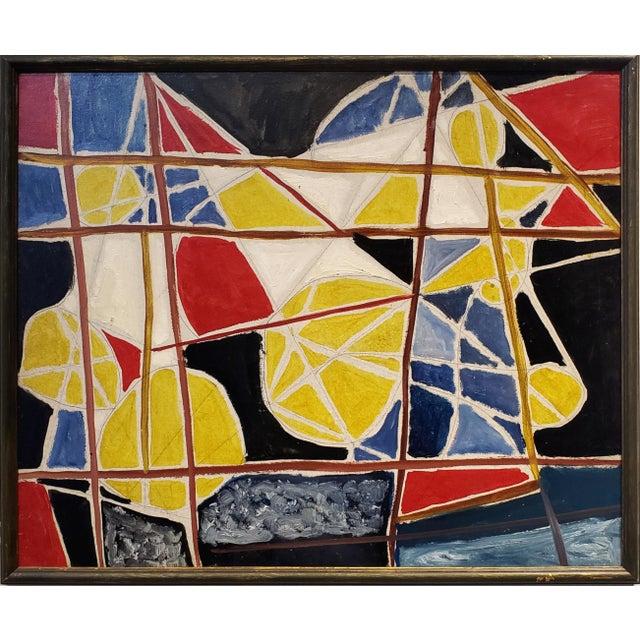 Abstract Painting by Ecole De Paris Painter Gabriel Zendel For Sale