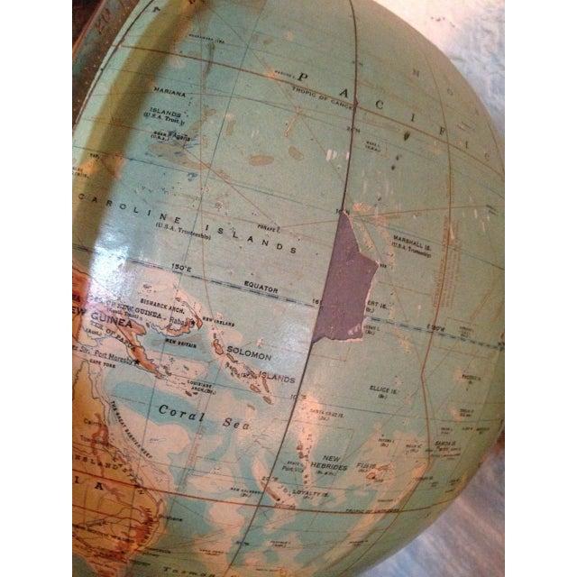 Vintage Globe on Pedestal For Sale - Image 5 of 6