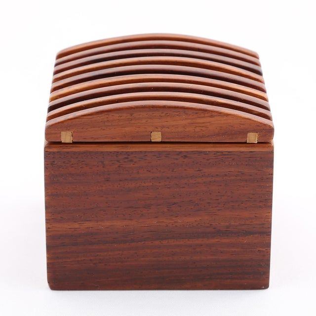 1980's VINTAGE JERRY MADRIGALE EXOTIC WOOD BOX For Sale - Image 4 of 9