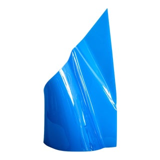 20th C. Royal Blue Acrylic Abstract Sculpture by Lore Behrendt, 1970s For Sale