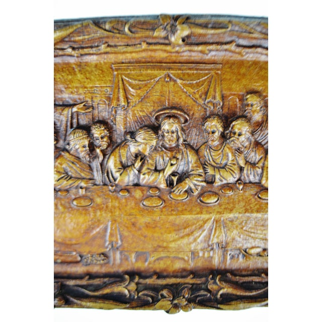 Vintage Last Supper Resin Wall Plaque For Sale - Image 4 of 12