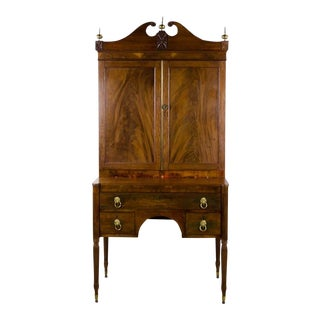 Early 19th Century Antique Regency Secretary Desk For Sale