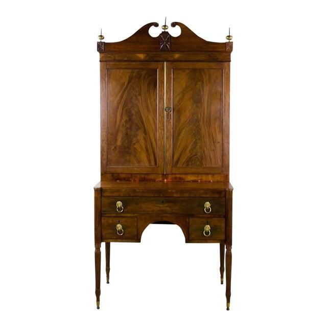 Early 19th Century Antique Regency Secretary Desk For Sale