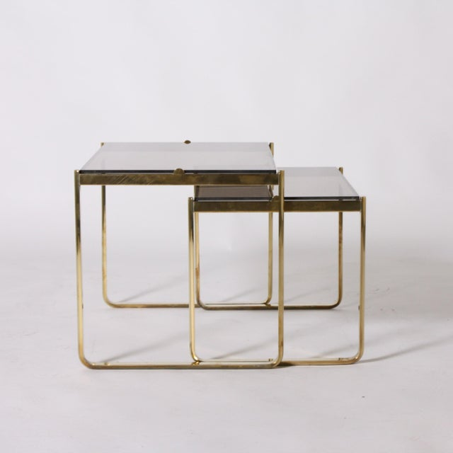 Jacques Quinet Bronze Nesting Tables by Jacques Quinet C. 1960 - Set of 2 For Sale - Image 4 of 6