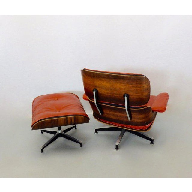 Eames for Herman Miller Rosewood With Red Leather 670 Lounge Chair and Ottoman For Sale In Detroit - Image 6 of 11