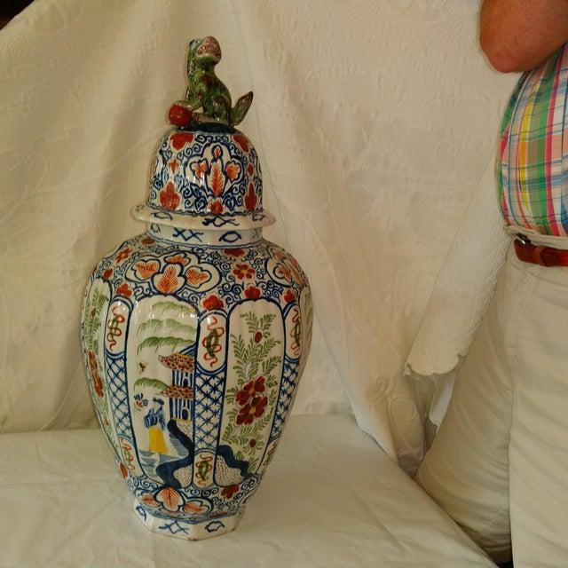 Delft Lidded Ginger Jar For Sale - Image 12 of 12