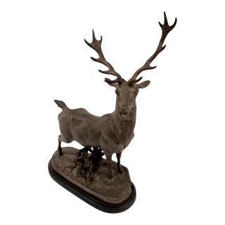 1990s Vintage Elk Statue For Sale