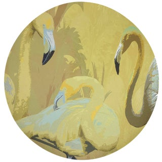 """Nicolette Mayer Palm Springs Golden 16"""" Round Pebble Placemats, Set of 4 For Sale"""