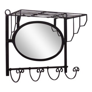 Antique Wrought Iron Coat Rack For Sale