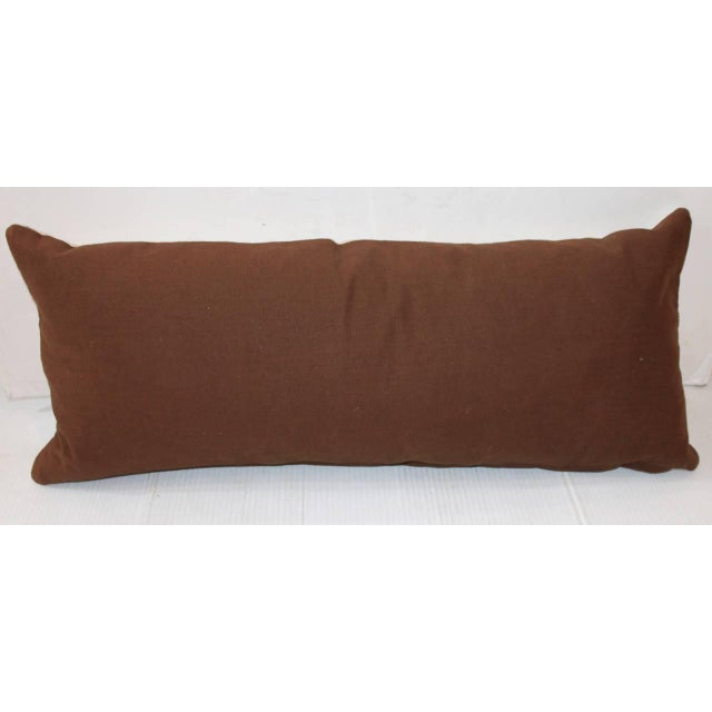Adirondack Navajo Indian Weaving Bolster Pillow For Sale - Image 3 of 3