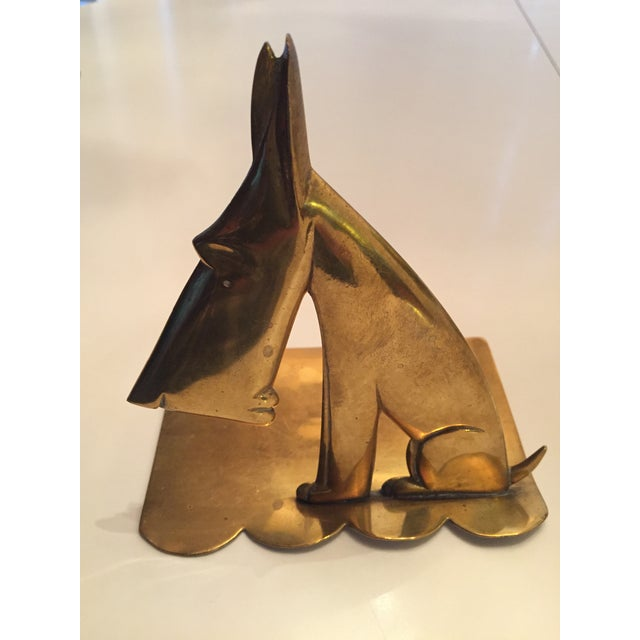 Hagenauer Signed Schnauzer Brass Bookends - a Pair For Sale In Seattle - Image 6 of 7