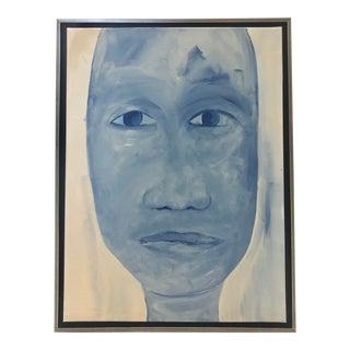 """Indigo Study #8"" Blue Portrait For Sale"