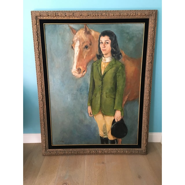 Equestrian Oil Painting - Image 2 of 6