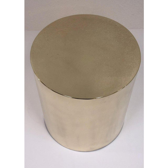 Contemporary Polish Brass Drum Table by Brueton For Sale - Image 3 of 8