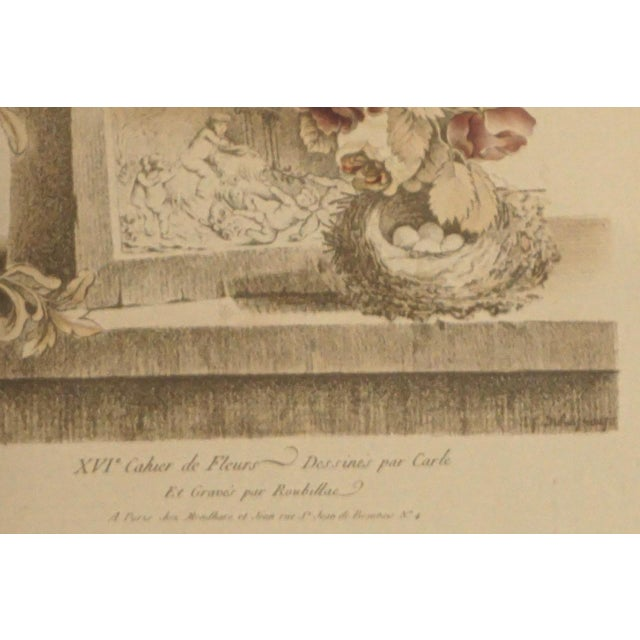 19th Century French Hand Colored Floral Etchings-A Pair For Sale In San Diego - Image 6 of 12