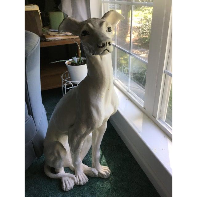 Vintage Ceramic Life Size Greyhound Dog For Sale - Image 4 of 12