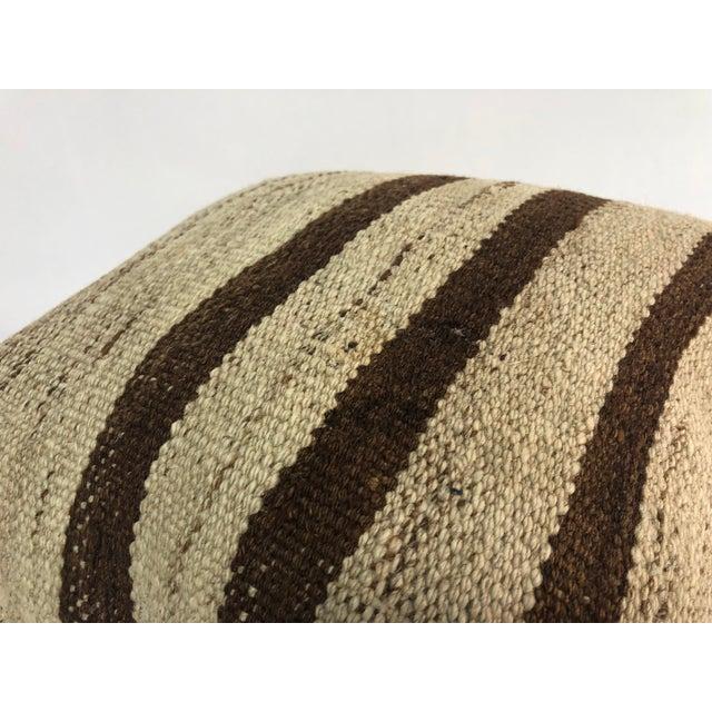 Turkish Stripe Design Anatolian Kilim Pillow For Sale - Image 4 of 6