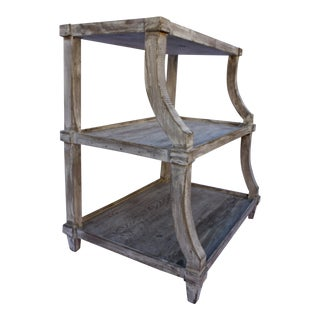 Rustic 3-Tier Side Table For Sale