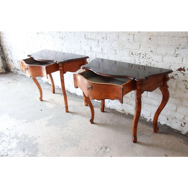 Brown Baker Furniture Milling Road French Console Tables For Sale - Image 8 of 13