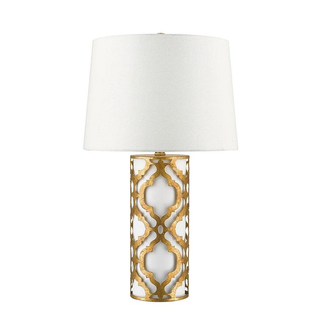 Metal Contemporary Arabella Gold Table Lamp For Sale - Image 7 of 10