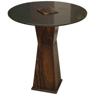 Zircote Wood and Granite Side Table by Gregory Clark For Sale
