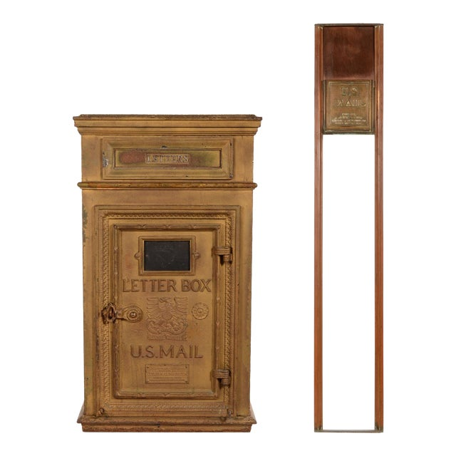Antique Cutler Mailbox and Mail Chute For Sale