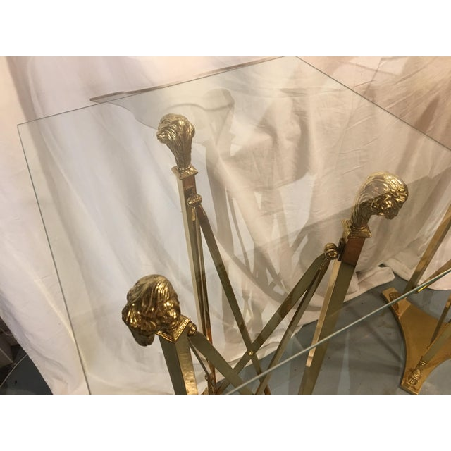 Brass Stands in the Maison Jansen Style With Sheep's Heads - a Pair For Sale - Image 9 of 12