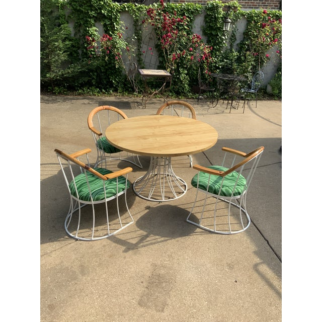 Restored Mid-Century Platner Style Round Table & Chairs For Sale - Image 12 of 12