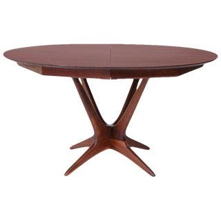 Vladimir Kagan Walnut and Rosewood Studio Dining Table For Sale