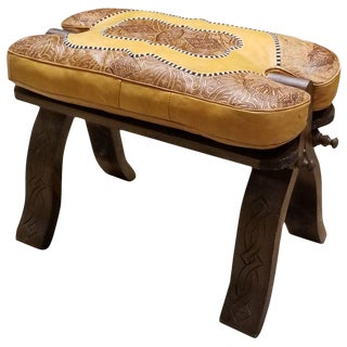 Handmade Moroccan Camel Seat For Sale