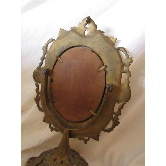 Antique Bronze Frame Swivel Mirror - Image 4 of 5