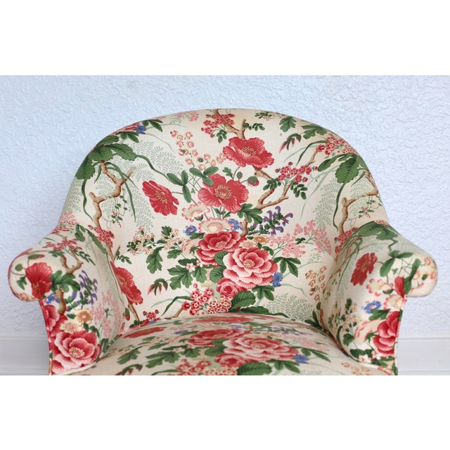 Napoleon III Style Floral Boudoir Chair With Bullion Fringe For Sale - Image 9 of 12