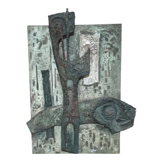 Laurent Jimenez Balaguer Brutalist Abstract High Relief Panel For Sale